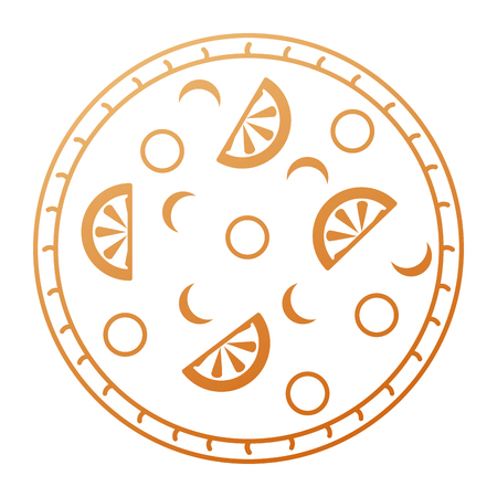 おいしいイタリアンピザ アイコン ベクトル イラスト デザイン  イラスト・ベクター素材