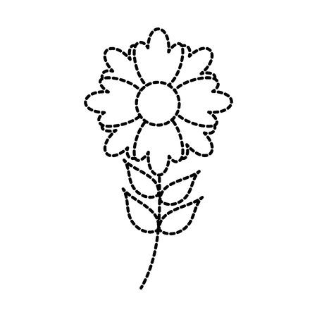 flower plant decoration botanical petal leaves stem vector illustration Ilustração