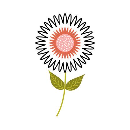 ダリア花花飾りガーデン花弁葉幹ベクトル図