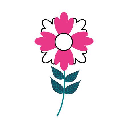 bloem plant decoratie botanische bloemblad bladeren stam vectorillustratie Stock Illustratie