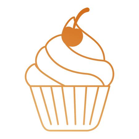 heerlijke cupcake geïsoleerde pictogram vectorillustratieontwerp
