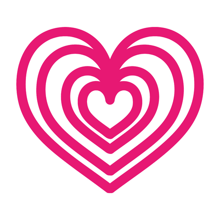 heart love romance passion style icon vector illustration Illusztráció