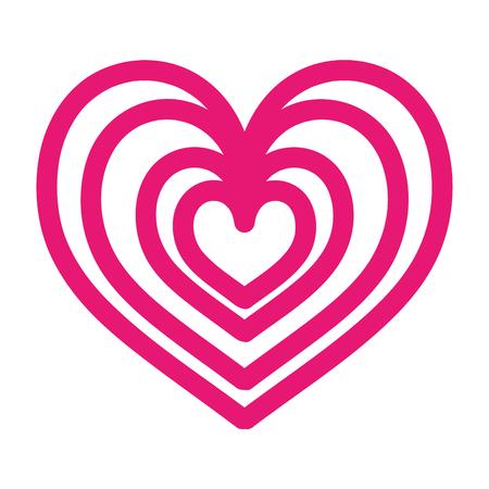 heart love romance passion style icon vector illustration Illustration