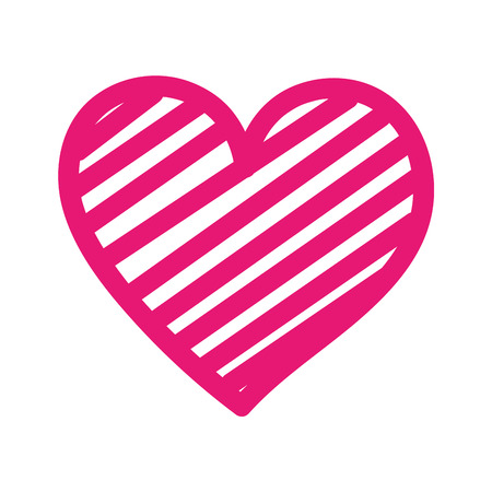 Cuore amore romanticismo passione decorare illustrazione vettoriale strisce Archivio Fotografico - 88839081