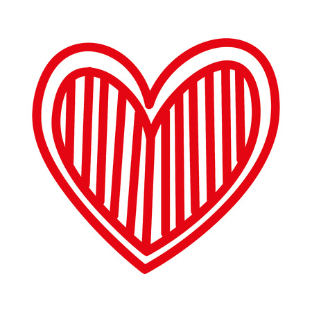 Cuore amore romanticismo passione decorare illustrazione vettoriale strisce Archivio Fotografico - 88839088