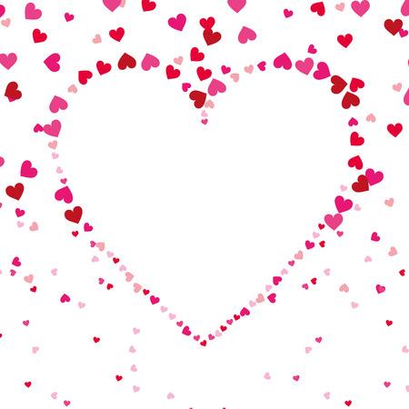 사랑 모양 심장 장식 열정 원활한 패턴 벡터 일러스트 레이션 일러스트