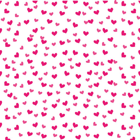 cute pink love heart decoration seamless pattern vector illustration Illustration