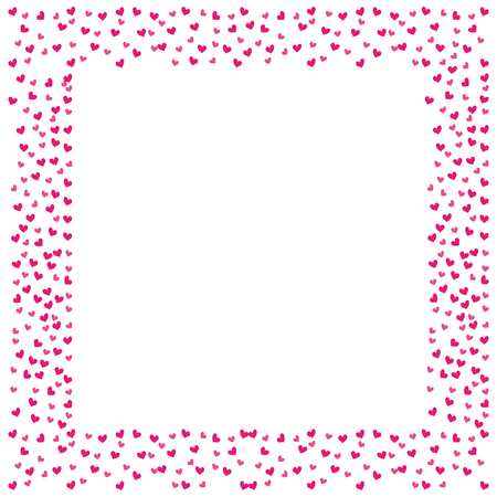 love frame card hearts decoration blank space text vector illustration