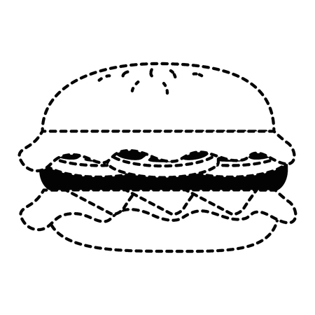 delicious burger isolated icon vector illustration design Çizim
