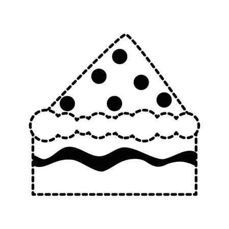 patisserie: delicious cake portion icon vector illustration design