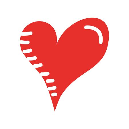 heart love romance passion drawn design vector illustration