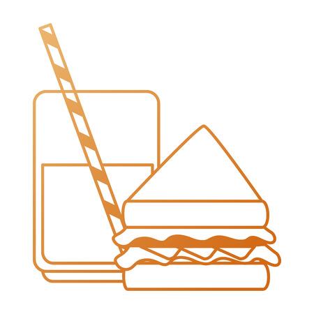 delicious sandwish and soda vector illustration design Illustration