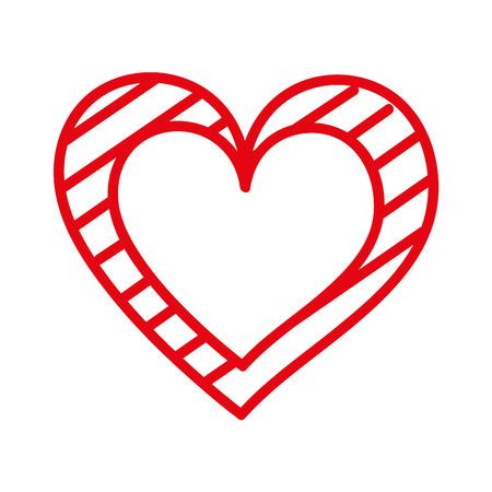 마음 사랑 로맨스 열정 줄무늬 그래픽 벡터 일러스트와 함께