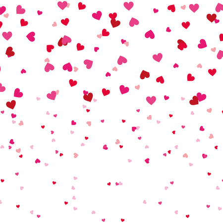 red and pink love heart romantic seamless pattern vector illustration Illustration