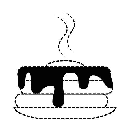 het heerlijke ontwerp van de pudding geïsoleerde pictogram vectorillustratie