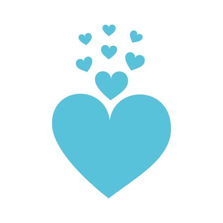 ブルーハーツ大好きロマンス情熱のベクトル図  イラスト・ベクター素材