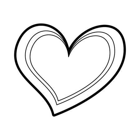 heart love romance passion feeling symbol vector illustration