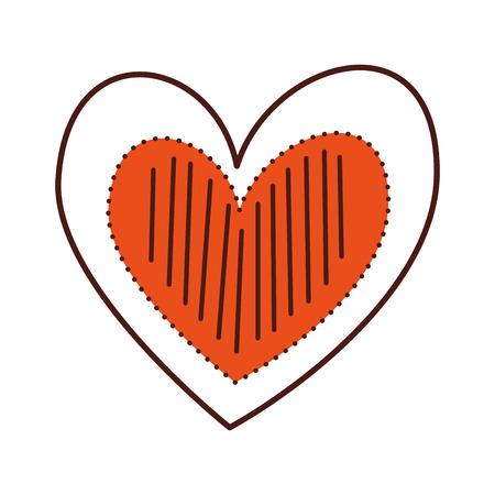 Cuore amore romanticismo passione decorare illustrazione vettoriale punti strisce Archivio Fotografico - 88827134
