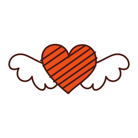 romantic winged heart symbolising romance and love vector illustration Stok Fotoğraf - 88827135