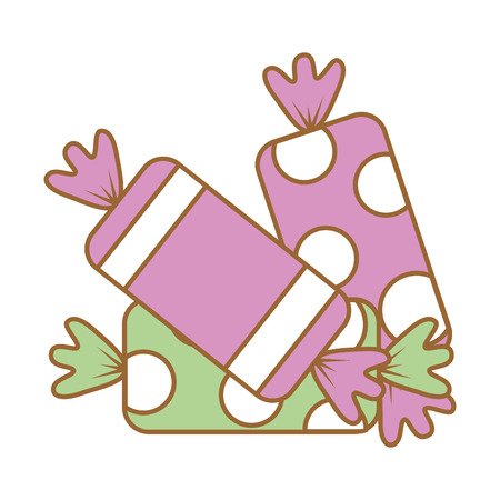 sweet candies isolated icon vector illustration design Imagens - 88827158