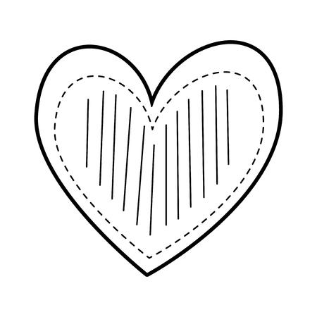Cuore amore romanticismo passione decorare illustrazione vettoriale punti strisce Archivio Fotografico - 88827164