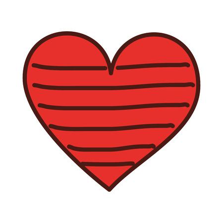 Cuore amore romanticismo passione decorare illustrazione vettoriale strisce Archivio Fotografico - 88827175