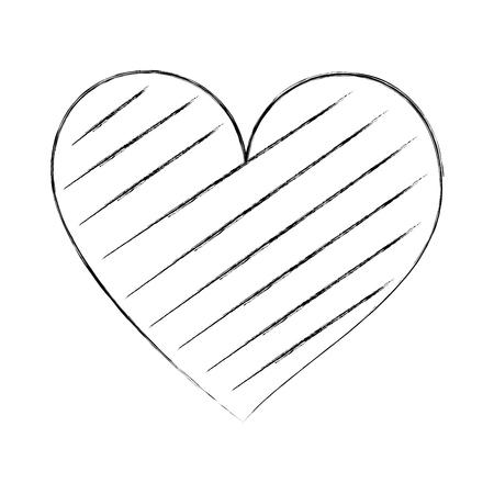 Cuore amore romanticismo passione decorare illustrazione vettoriale strisce Archivio Fotografico - 88827182
