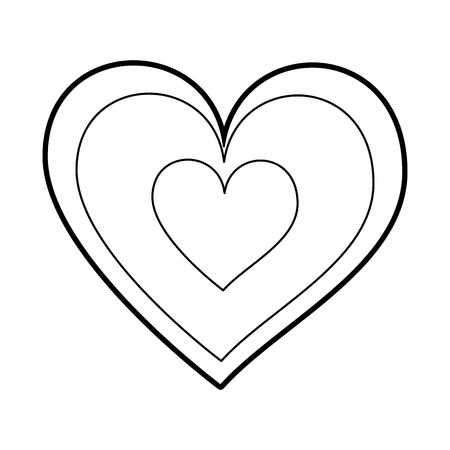hearts icon symbol of love on valentines day vector illustration