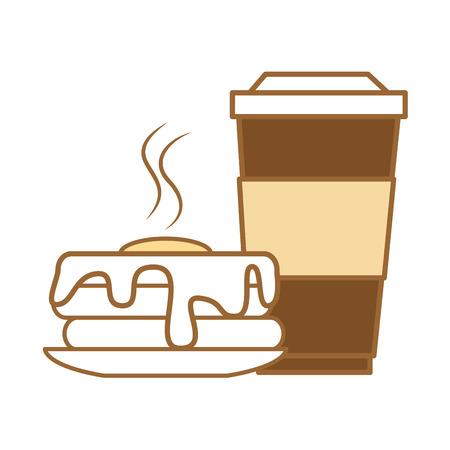 음료 벡터 일러스트 디자인으로 맛있는 푸딩 일러스트