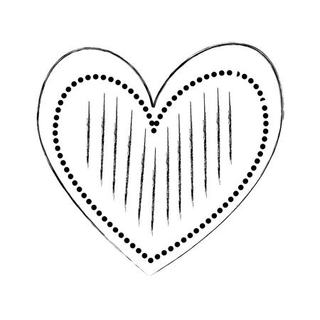 Cuore amore romanticismo passione decorare illustrazione vettoriale punti strisce Archivio Fotografico - 88827228
