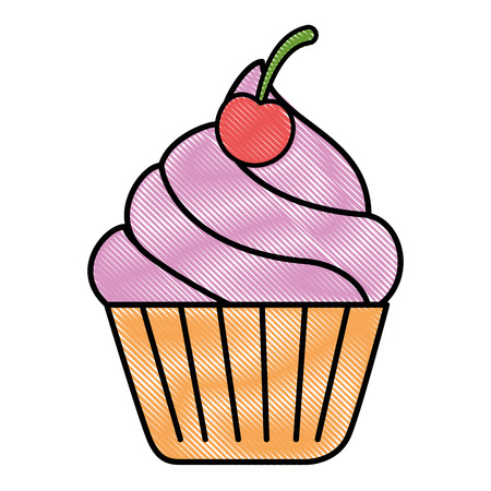 patisserie: delicious cupcake isolated icon vector illustration design