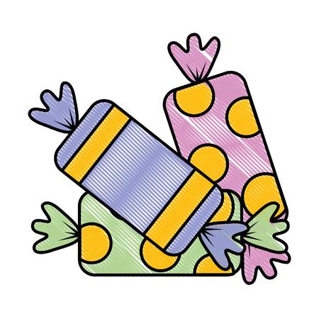 sweet candies isolated icon vector illustration design Ilustração