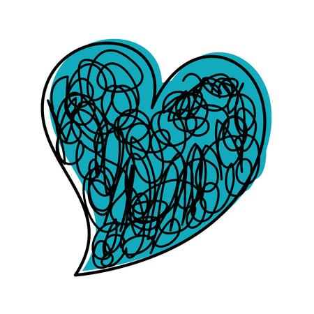 heart love romance passion doodle image vector illustration Illusztráció