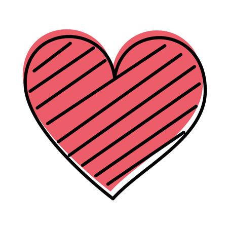 Cuore amore romanticismo passione decorare illustrazione vettoriale strisce Archivio Fotografico - 88827286