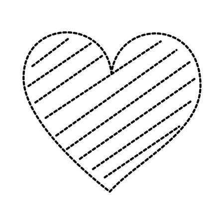 Corazón amor romance pasión decorar rayas vector illustration Foto de archivo - 88827359