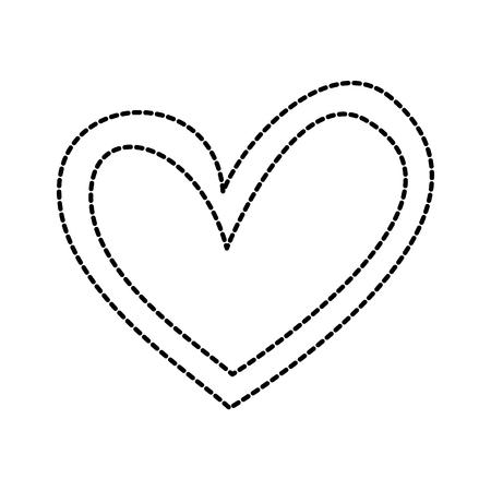 heart love romance passion dots decoration image vector illustration 向量圖像
