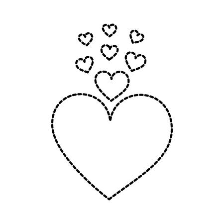 heart love romance passion decoration vector illustration 向量圖像