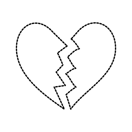 broken heart icon divorce end of love symbol vector illustration