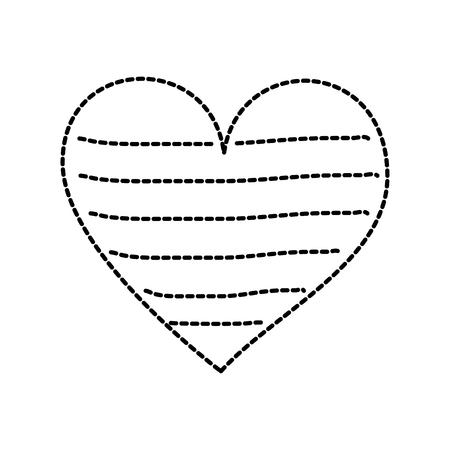 Coração amor romance paixão decorar listras ilustração vetorial Foto de archivo - 88827710