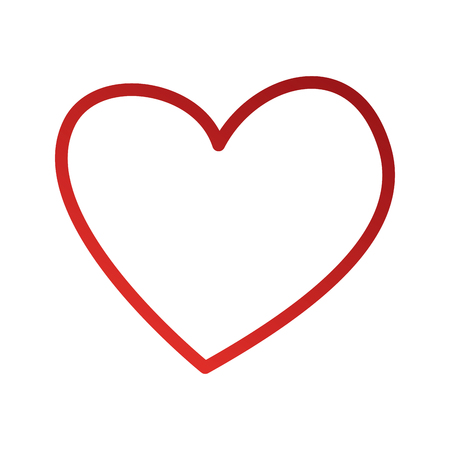heart love romance passion feeling sweet icon vector illustration