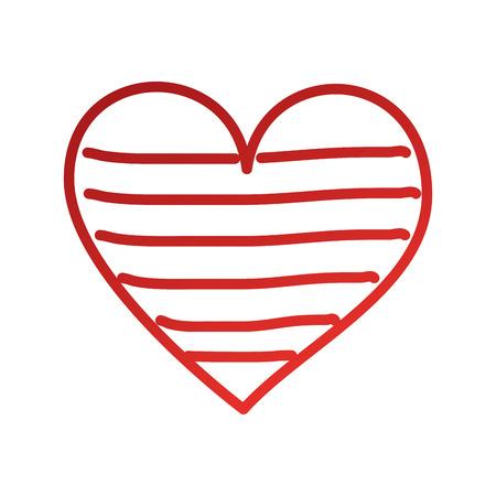 Cuore amore romanticismo passione decorare illustrazione vettoriale strisce Archivio Fotografico - 88827728