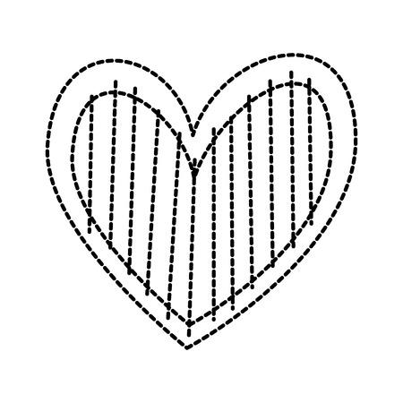 Cuore amore romanticismo passione decorare illustrazione vettoriale strisce Archivio Fotografico - 88828464