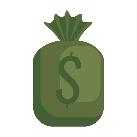 moneybag: money bag isolated icon vector illustration design