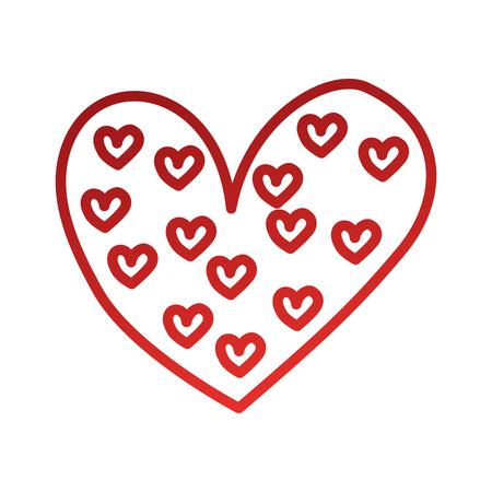 heart love romance passion decoration element style vector illustration
