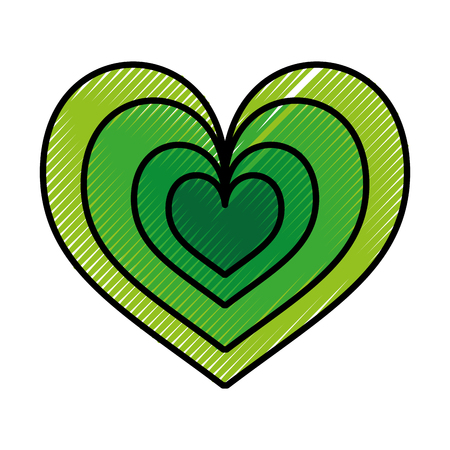 heart love romance passion style icon vector illustration Ilustrace