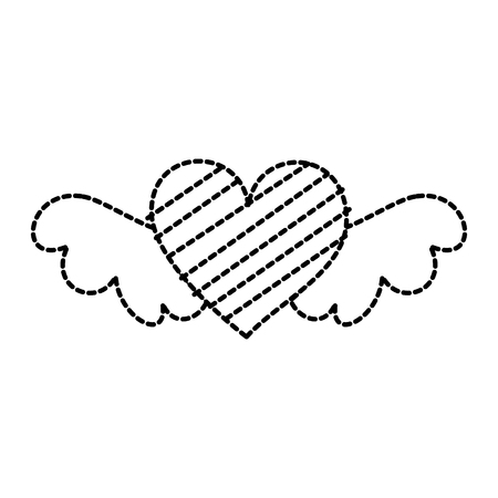 romantic winged heart symbolising romance and love vector illustration Stok Fotoğraf - 88828731