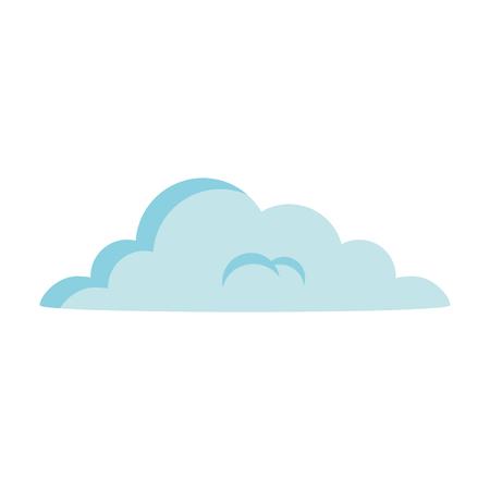 cloud silhouette isolated icon vector illustration design Çizim