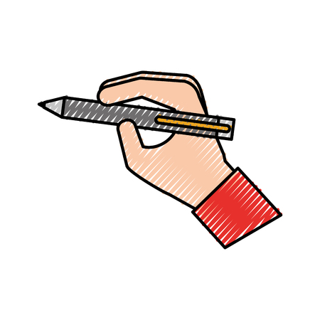 hand with pen write concept vector illustration Illustration