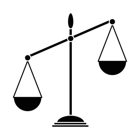 Skala równowagi odizolowane ikony ilustracji wektorowych projektowania