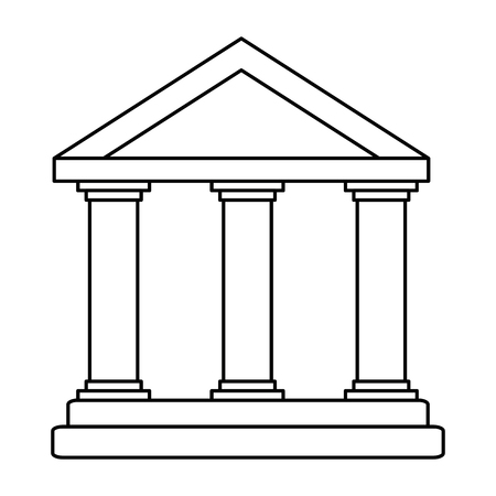 building with columns icon vector illustration design Иллюстрация